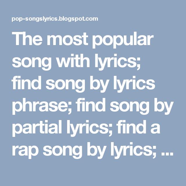 rap lyrics search engine