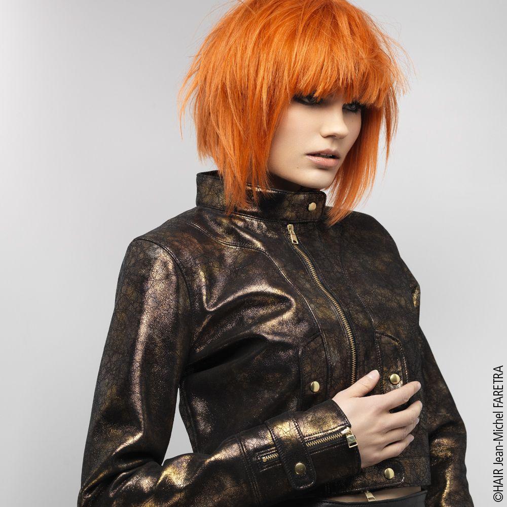 rousse | Cheveux, Carré plongeant roux