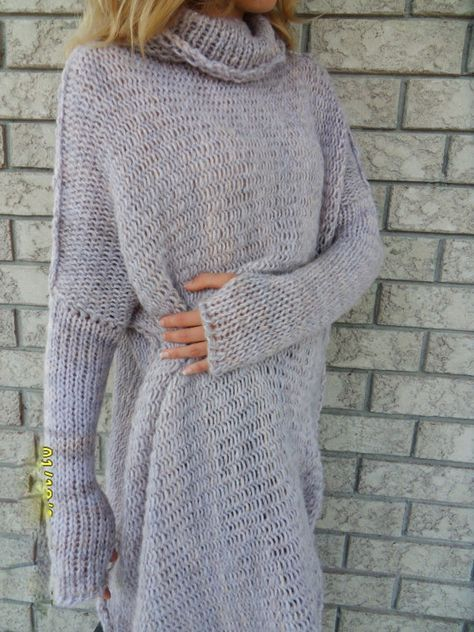 Chunky Oversize women knit sweater. by RoseUniqueStyle on Etsy ...