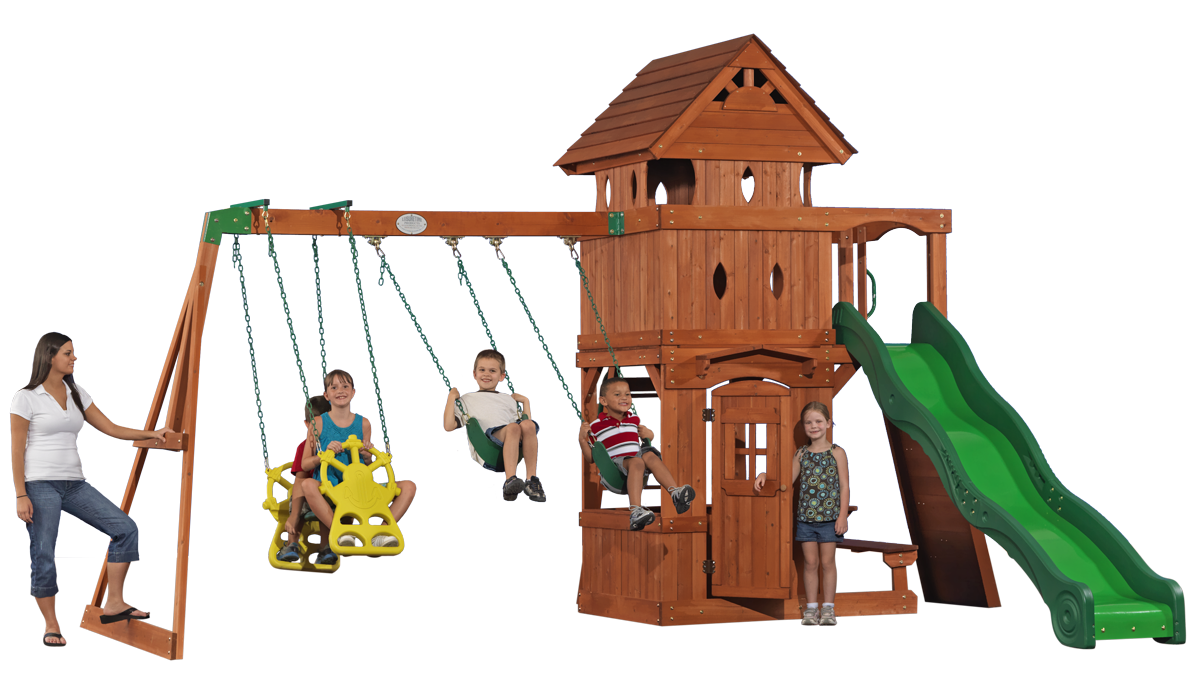 the action explorer is a great all cedar swingset with a raised