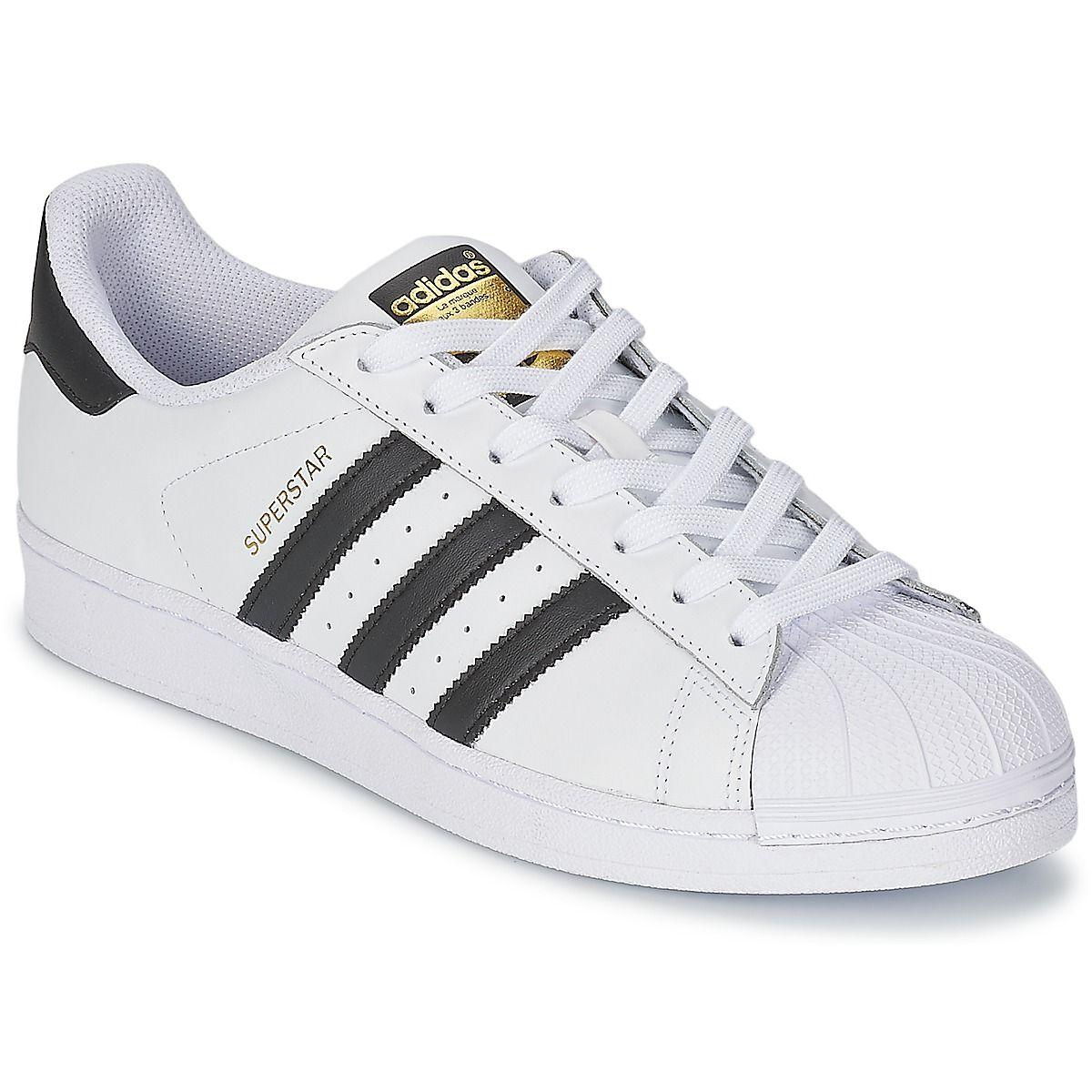 12ff87d7c92 Baskets basses Adidas Originals SUPERSTAR Blanc   Noir prix promo Baskets Femme  Spartoo 99.00 €