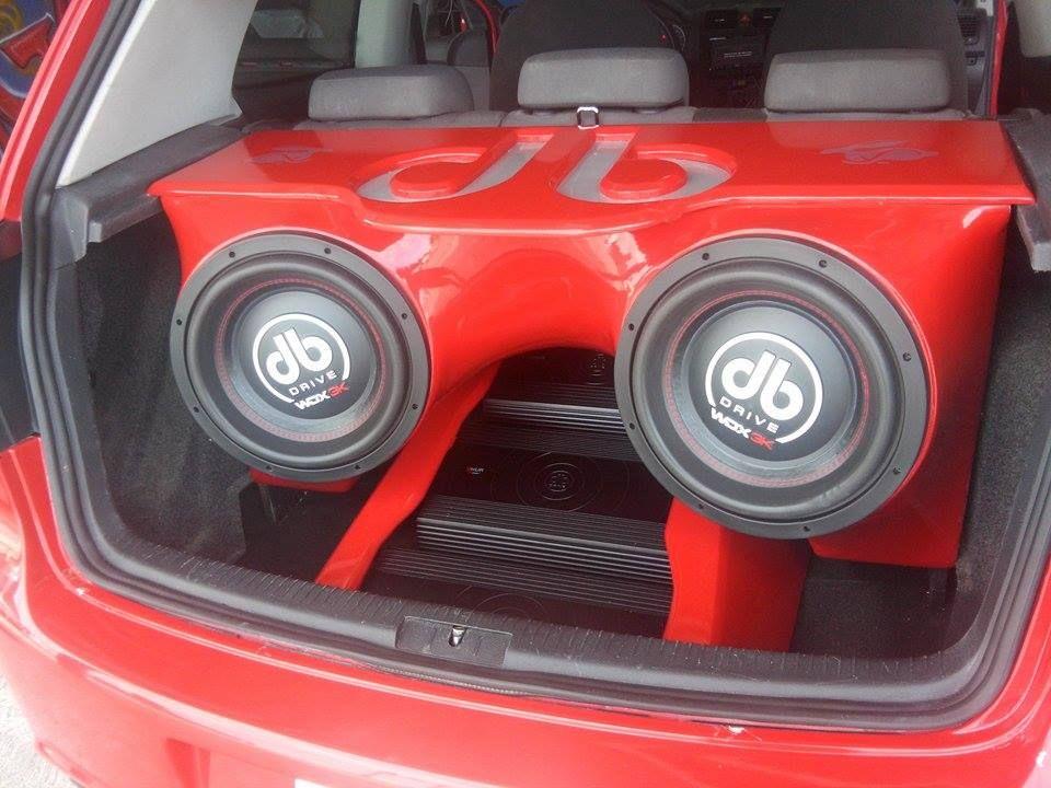 Car Audio Hatchback Pics Custom Box With Dbdrive Logo And