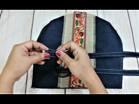 How To Make Hand Bag At Home | DIY Jeans Bag | Easy Shopping Bag At Home