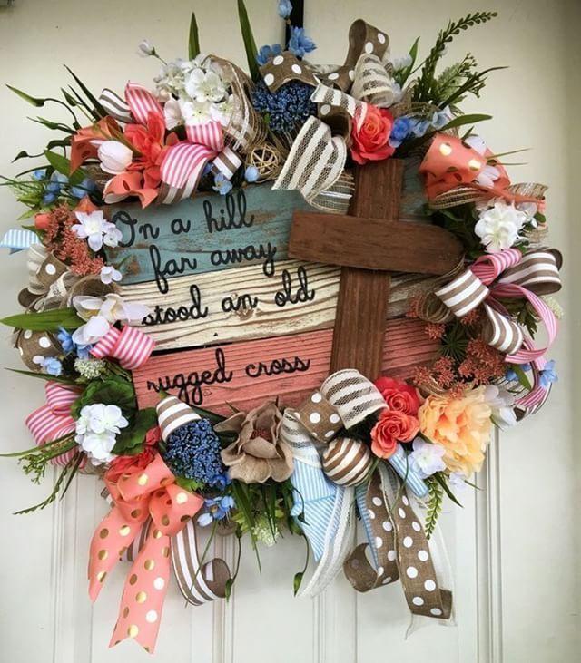 Home Interior Diy Custom Easter Wreath by Trendy Tree member. #homedecor #easter #trendytree.Home Interior Diy  Custom Easter Wreath by Trendy Tree member. #homedecor #easter #trendytree