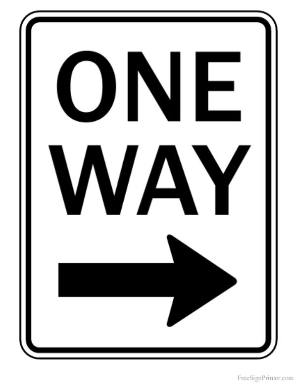 picture about Printable Street Signs titled Printable 1 Route Directly Arrow Indicator preschool inside of 2019
