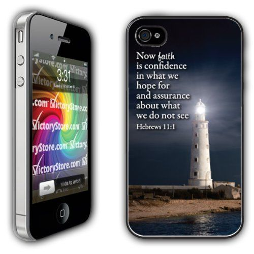 iPhone 4/4s Case - Christian Theme - Hebrews 11:1 - Clear Protective Hard Case by VictoryStore, http://www.amazon.com/dp/B00AKFYNBW/ref=cm_sw_r_pi_dp_JcSasb0S717S3
