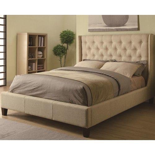 300332Q Navy/gold bedroom Pinterest Upholstered king bed