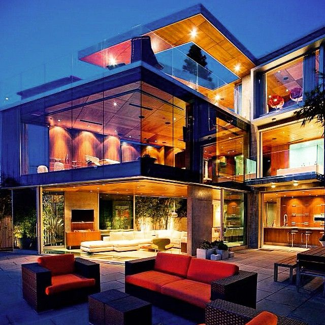 Home Decor 2012 Modern Luxury Homes Beautiful Garden: Wowza!!! Glass Mansion In California