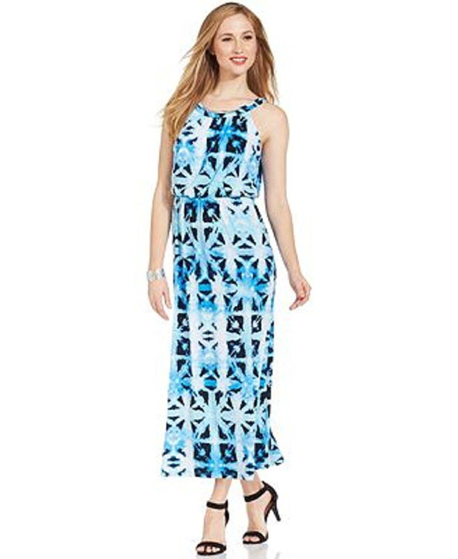 Style And Co Petite Tie Dye Blouson Maxi Dress Xl Extra Large Blue Wow I Love This Check It Out Now Plus Maxi Dress Casual Dresses Plus Size Dresses [ 1500 x 1230 Pixel ]