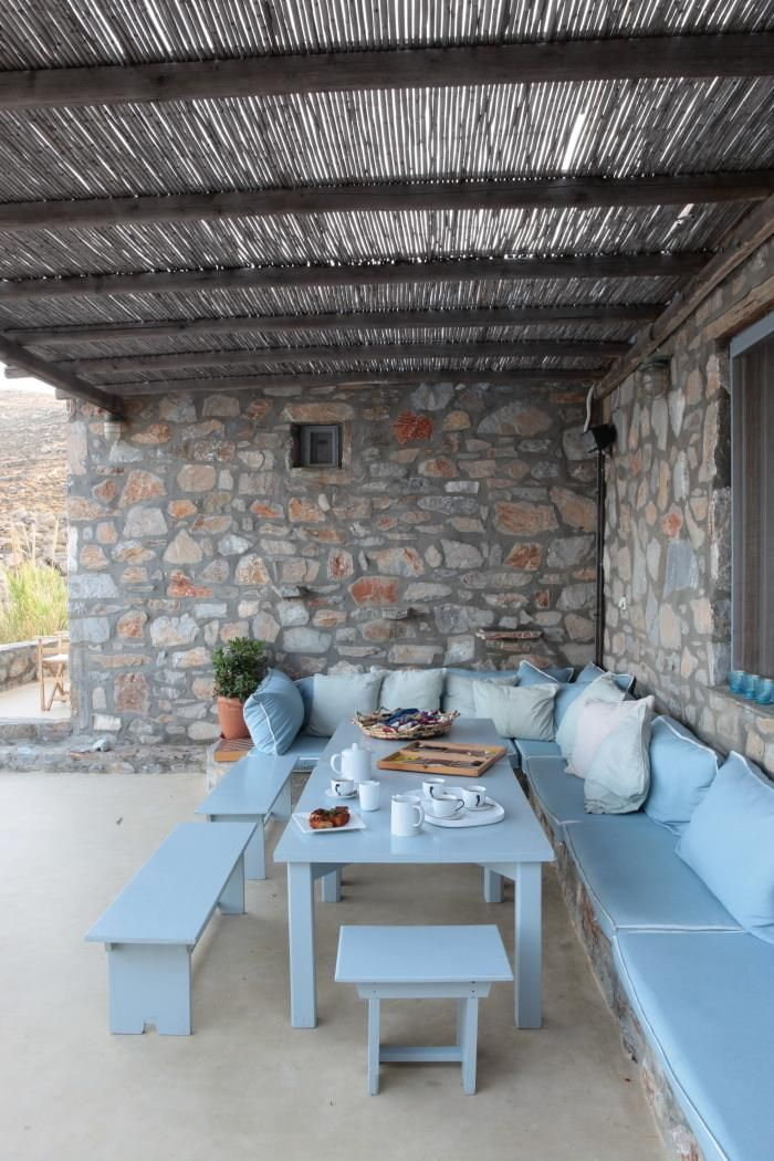 Helen's veranda in Serifos; photograph by Costas Picadas for Pointed Leaf Press.