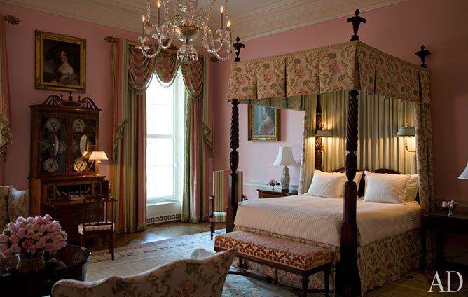 Celebrating The History Of Interior Design At The White House Inside The White House White House Interior Romantic Bedroom Colors