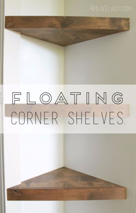 Attractive 37 Brilliantly Creative DIY Shelving Ideas | Floating Corner Shelves, Diy  Shelving And Closet Wall