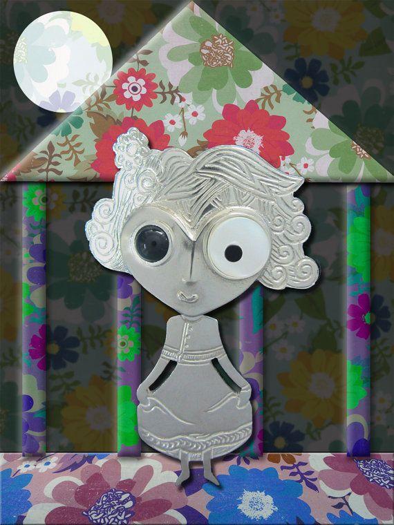 Flor de Gala - Colgante articulado en plata de 1ª ley de la Colección Única Muguet