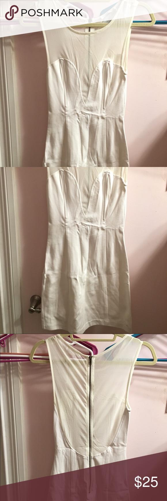 Tight Mini Dress White too mesh Tight mini dress Lush Dresses Mini