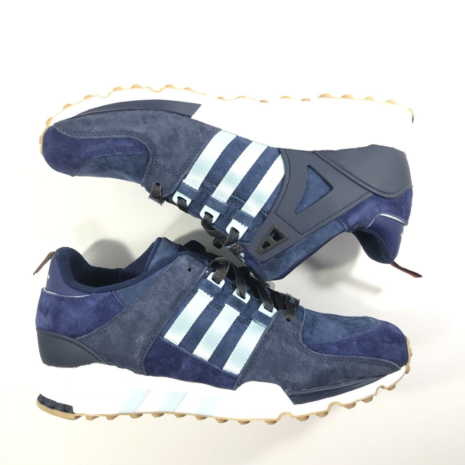 Adidas EQT 93 Equipment Berlin Marathon LTD Navy/Ice Blue Shoes B27662 Size  10.5