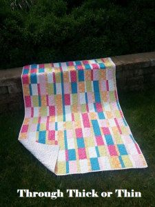 A fast and fun quilt! Thick or Thin by SleepingCatCreations ... : thick quilts for sale - Adamdwight.com