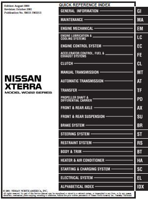 2001 nissan xterra repair manual sm1e 1w22u2 nissan service and rh pinterest com 2000 nissan xterra service manual pdf 2000 nissan xterra service manual pdf