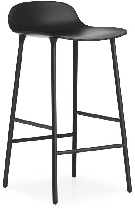 Tabouret De Bar Form 65cm Acier Noir Normann Copenhagen Tabouret De Bar Tabouret Mobilier De Salon