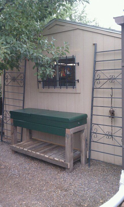 Upcycled Potting Bench Has All Recycled Materials Truck