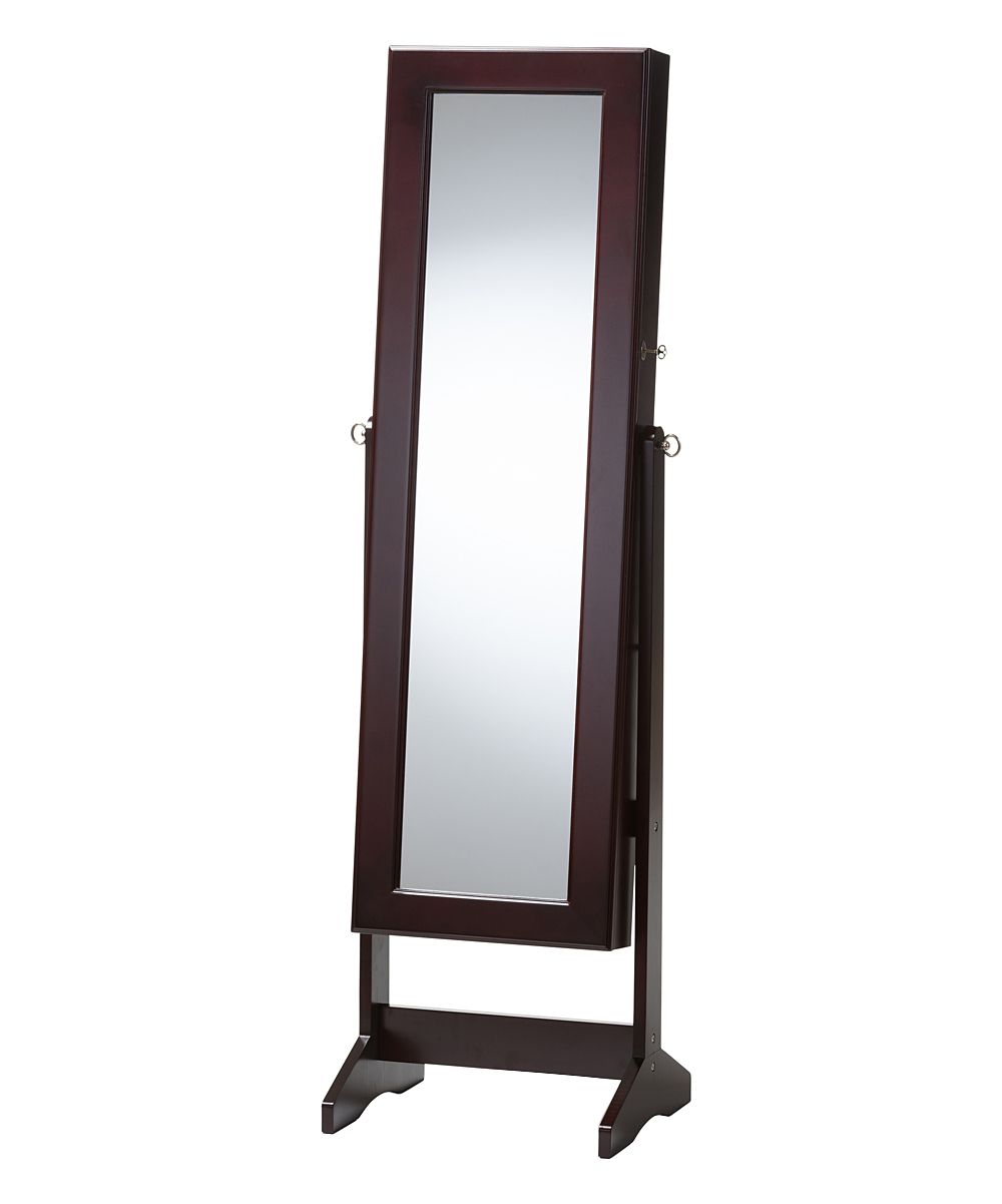Brown Alena Mirrored Jewelry Armoire Products