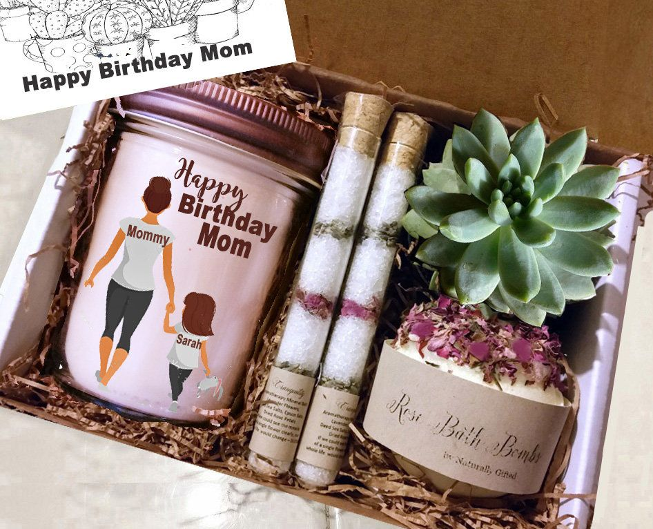 Birthday gift box for her personalized gift spa day gift