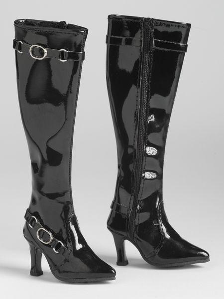 "American Model Black Knee Hi Boots 22"""