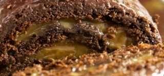 Rocambole de Chocolate com Doce de Leite