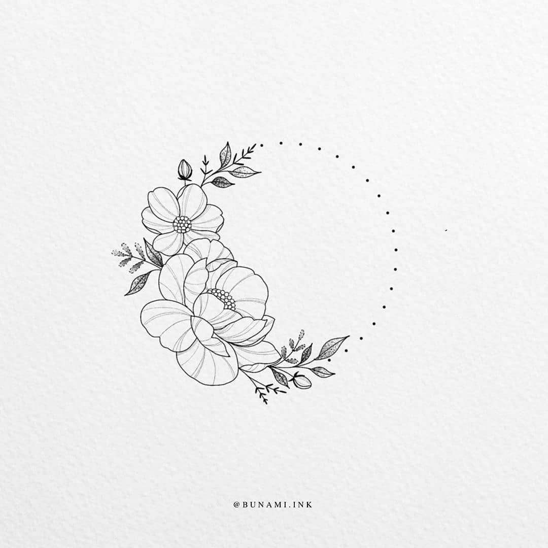 Black And White Illustrations On Instagram Illustration By Bunami Ink Blackworknow If You Black And White Illustration White Tattoo Small Flower Tattoos