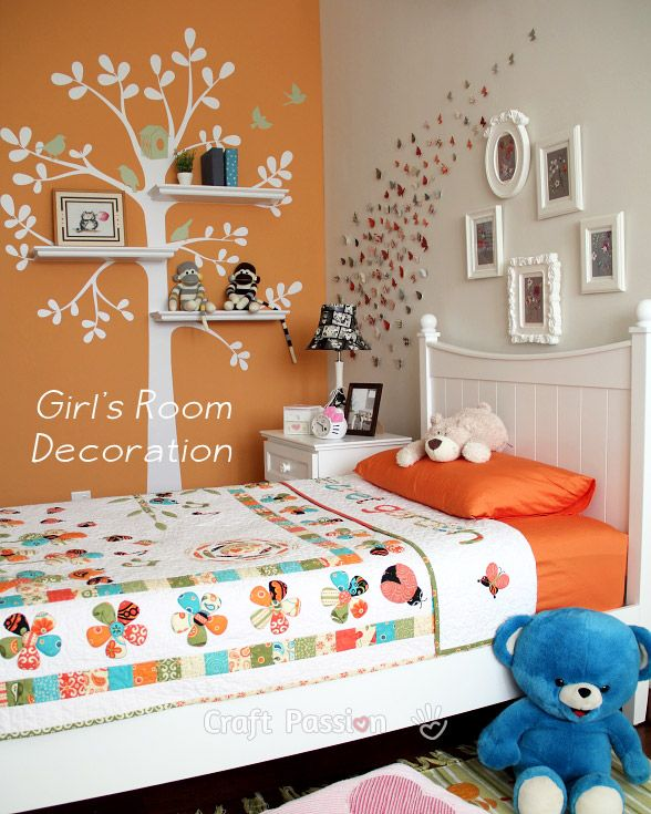 Girl 39 s bedroom decoration ideas home decor tree decals Decorations for a girls bedroom