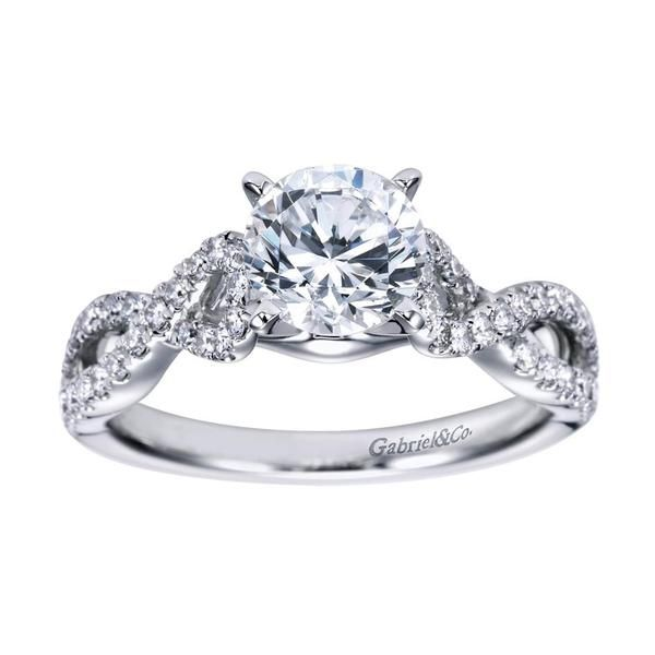 A Ring With A Twist A 14k White Gold Contemporary Criss Cross