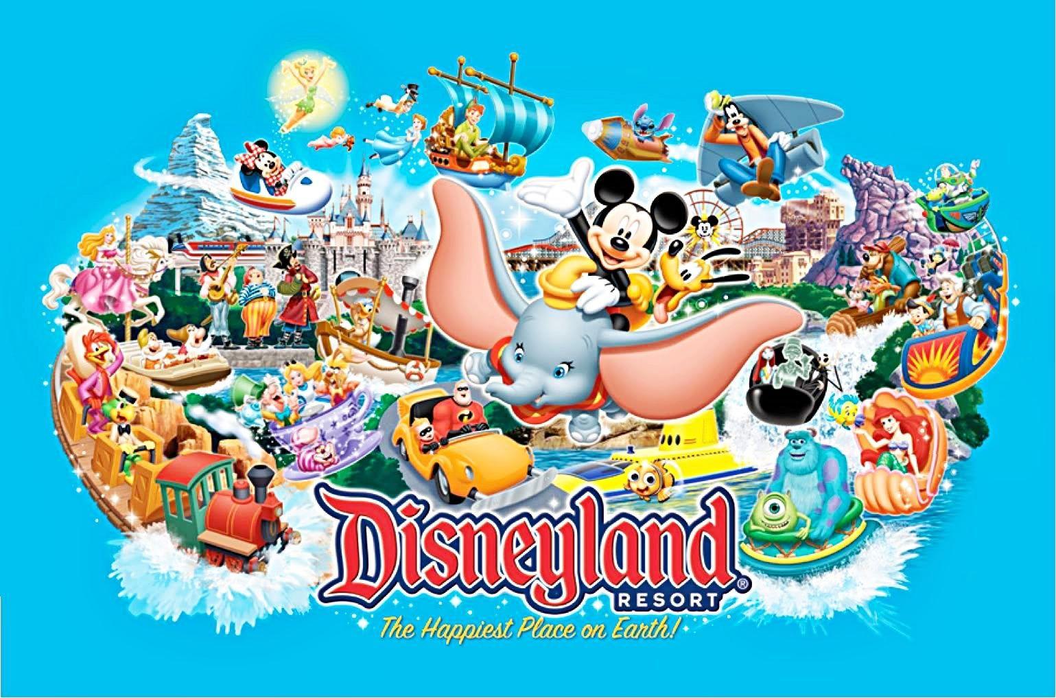 Disneyland Flyer Walt Disney Characters Disneyland Disney