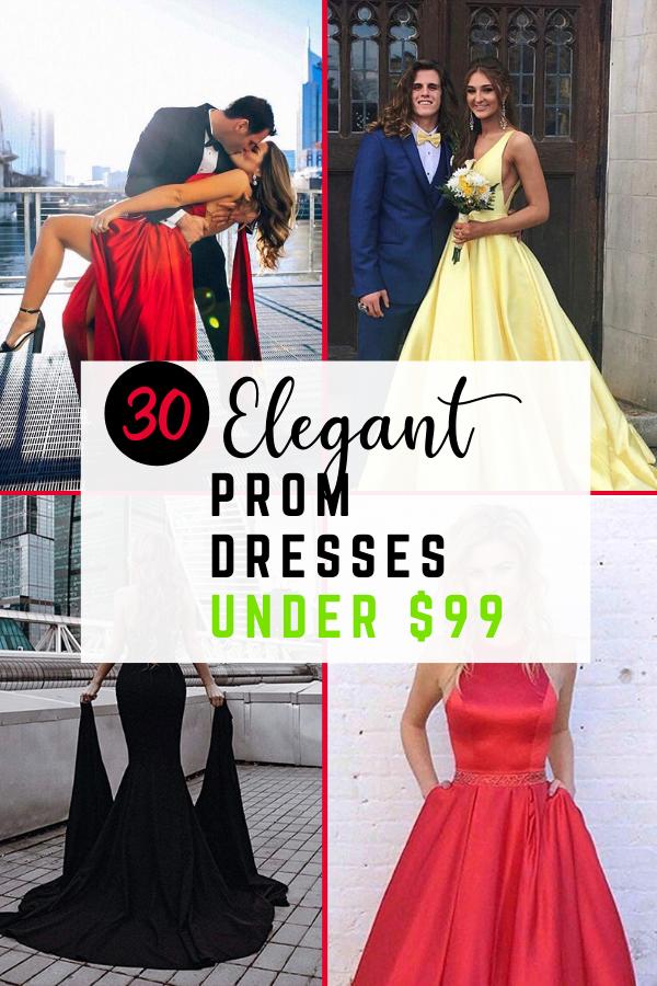 30 Elegant Prom Dresses Under $99 in