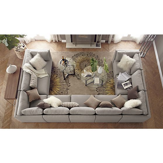 Sale Crate And Barrel U Shaped Sofa U Shaped Couch Family Room