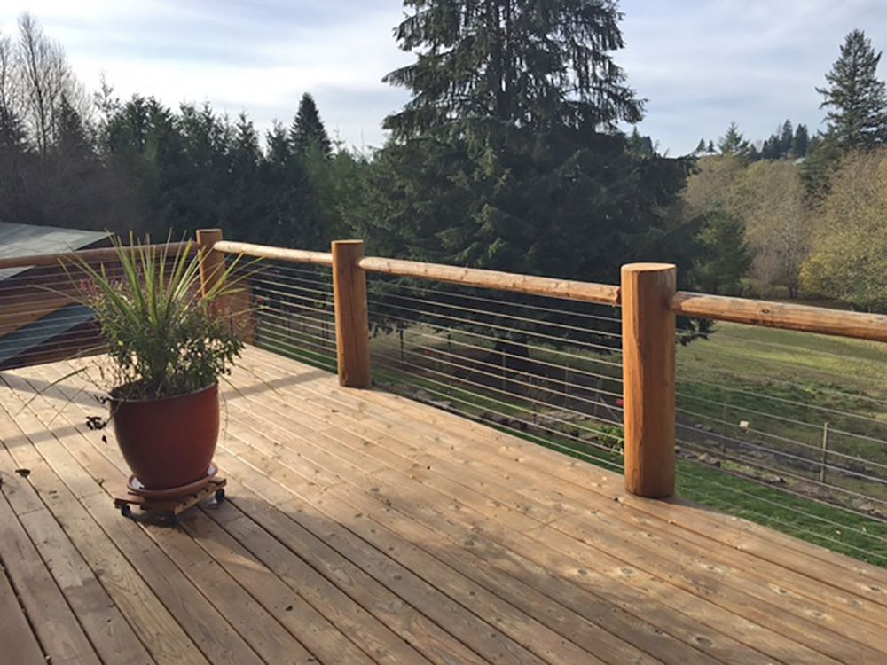 Cable Infill Systems Gallery Rustic Deck Deck Railings Patio