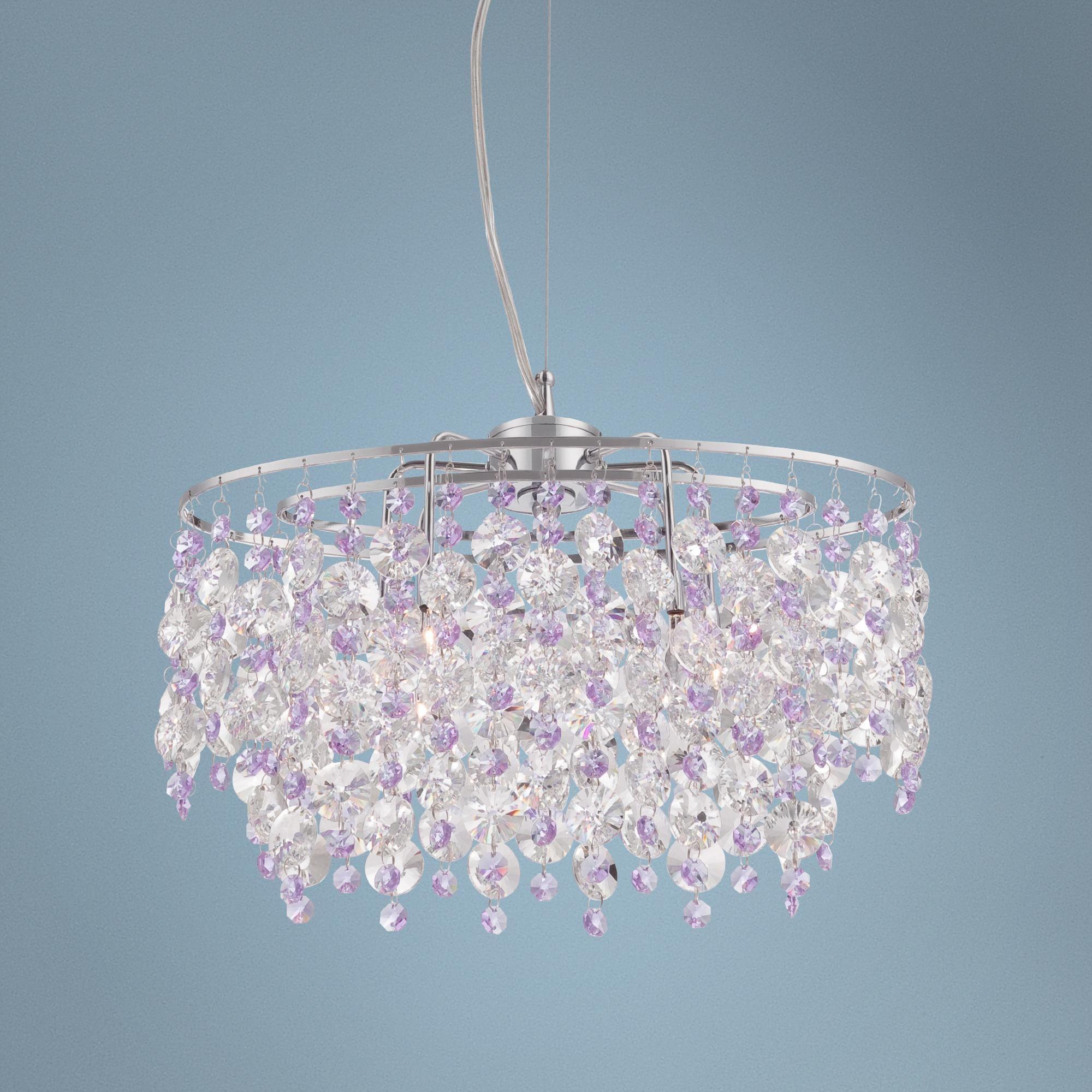 Abigail 15 wide purple crystal pendant chandelier design abigail 15 wide purple crystal pendant chandelier arubaitofo Image collections