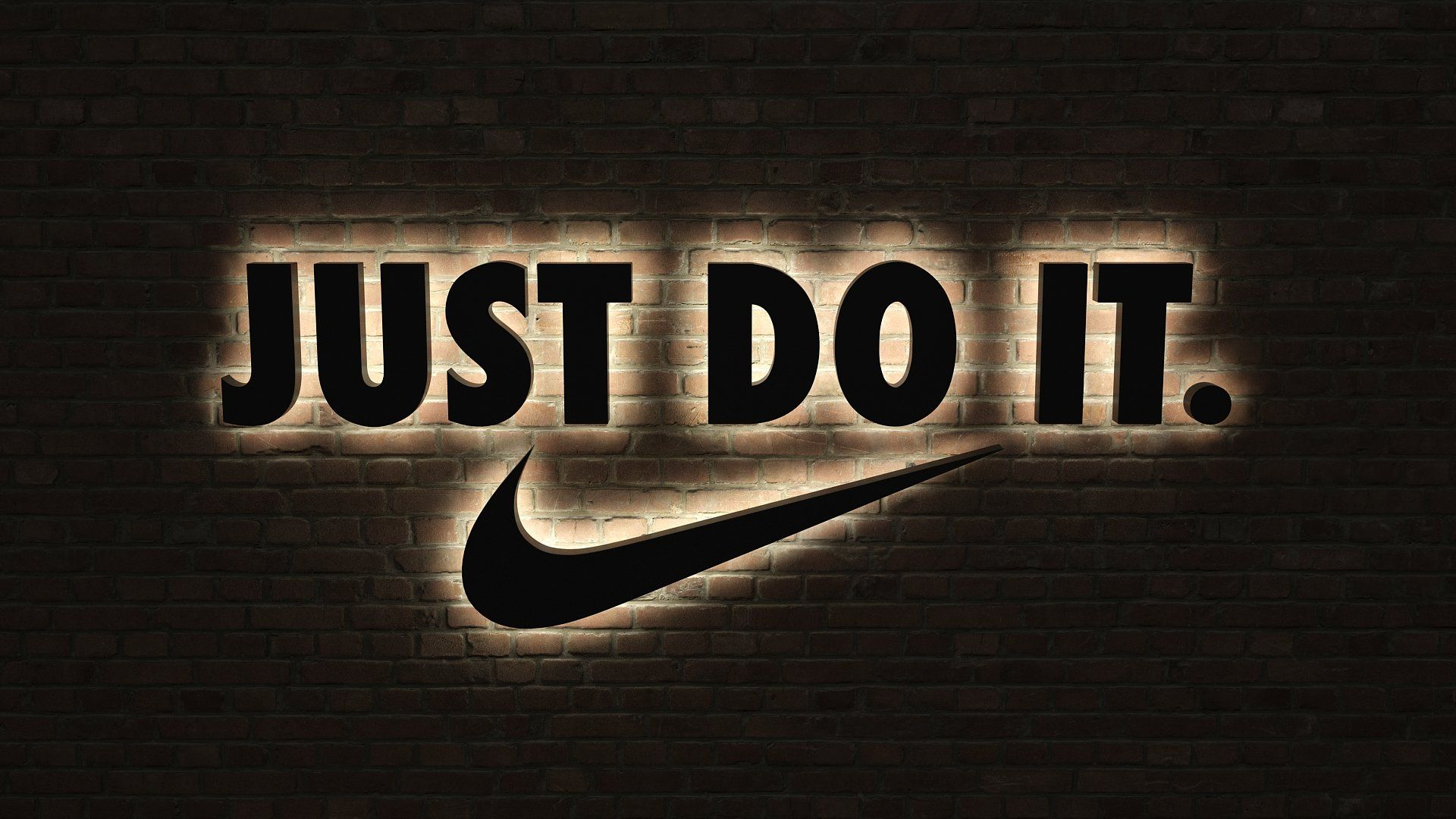 Logo Sign Nike Just Do It 3d Sponsored Mesh Versions Original Quality Ad Logo Sign Just Do It Nike Just Do It Wallpapers