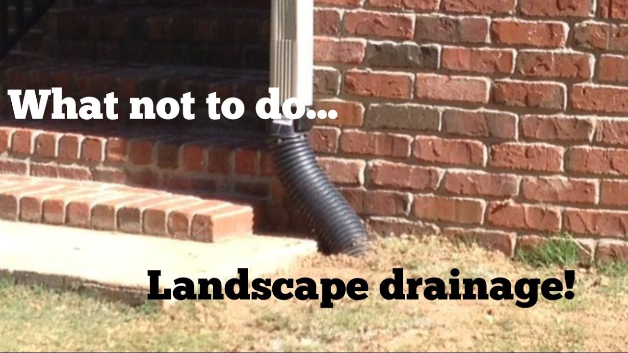 French Drain Tips - Avoid these Mistakes - - YouTube ...