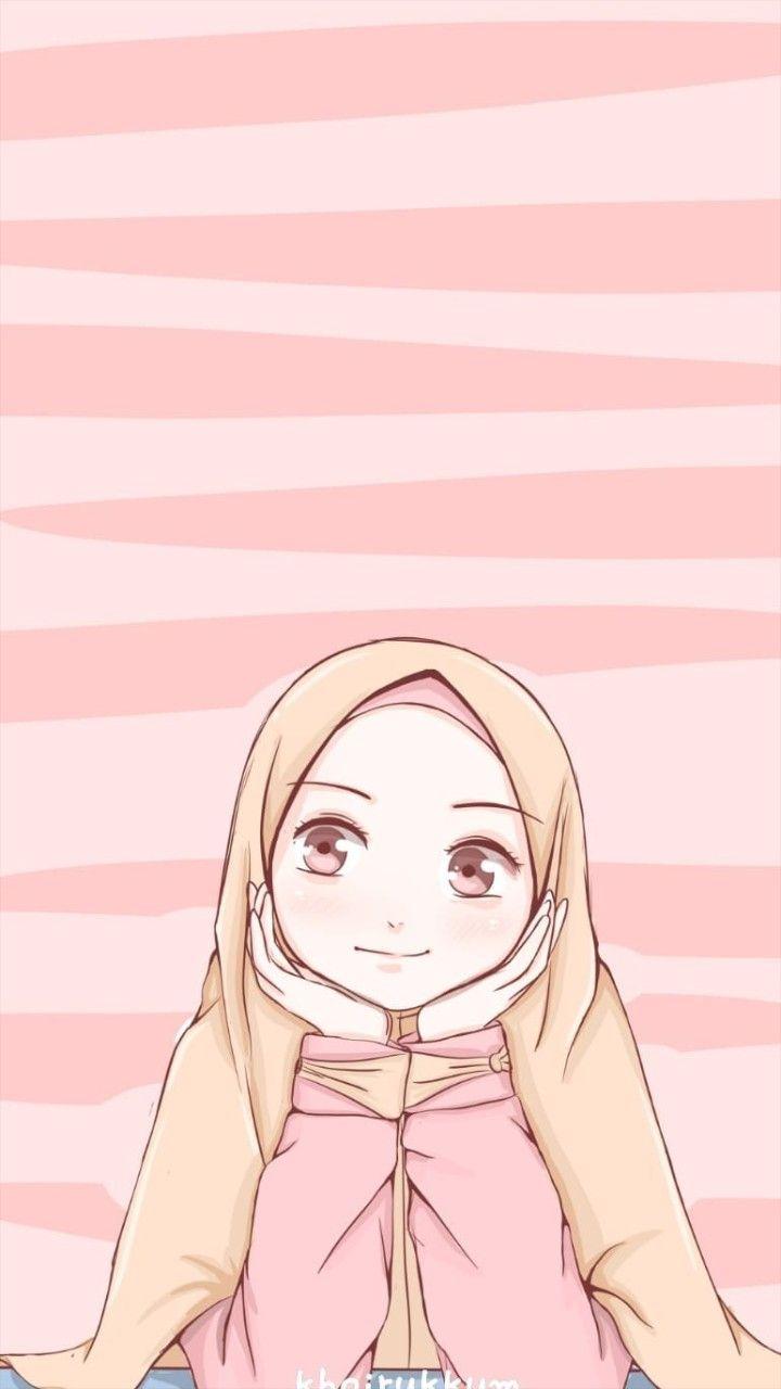Pin Oleh Nurisnainianugrah Di Anime Muslimah Elit Seni Islamis Ilustrasi Karakter Gambar