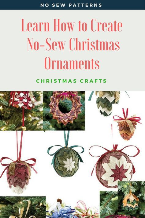 How to make a No-Sew ornament and free ornament patterns   Sewn ...