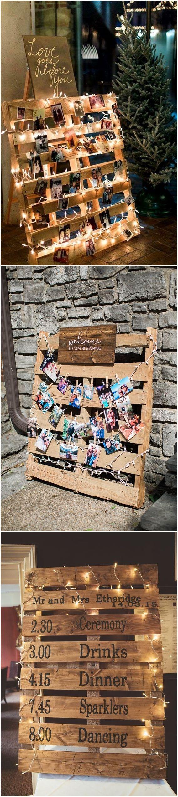 Pallet wedding decor ideas  Top  Rustic Country Wooden Pallet Wedding Ideas  Country Weddings