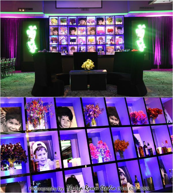 Bar Bat Mitzvah Ideas Personalized Photo Wall With Baby Photos Cool Led Lighting Ira Rosen Photography Gala Event And Food Artistry Ny