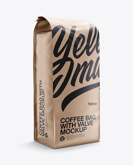 Download 16oz Paper Coffee Bag Mockup Half Side View In Bag Sack Mockups On Yellow Images Object Mockups Mockup Free Psd Bag Mockup Free Psd Mockups Templates