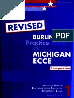 Michigan Ecce Book 1 Practice tests   C1   Grammar, vocabulary