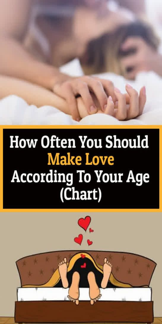 How Often You Should Make Love According To Your Age (chart)