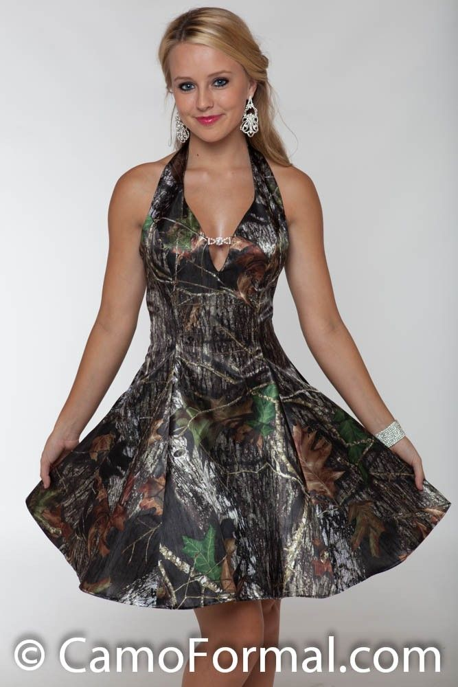 Weddings & Events Honest Realtree White Camo Short Cocktail Party Dresses 2019 Vestido De Festa Camouflage Wedding Party Dress