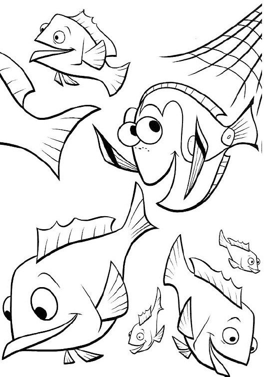 Finding Nemo Was Pleasantly Surprised Coloring Pages