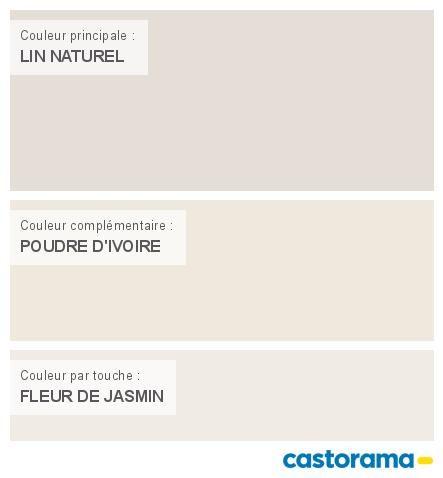 Castorama Nuancier Peinture - Mon harmonie Peinture LIN NATUREL mat ...