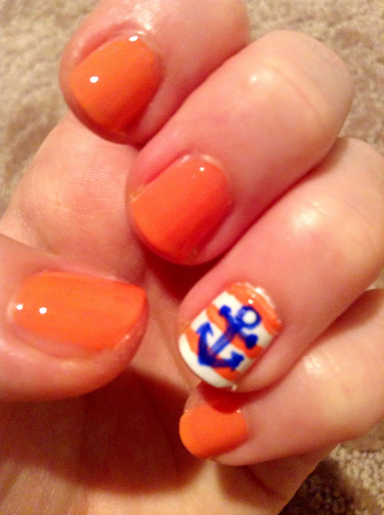 How to Create Cute Anchor-Themed Nail Art | Recipe | Anchor nails