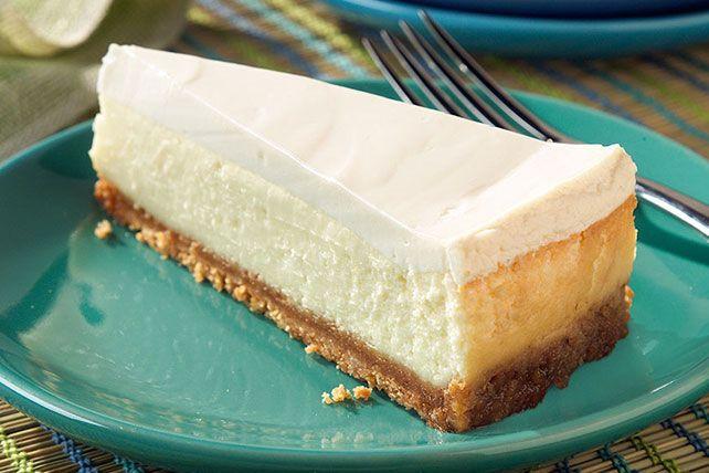 Sour Cream Topped Cheesecake Recipe Easy Cheesecake Recipes Sour Cream Recipes Sour Cream Cheesecake