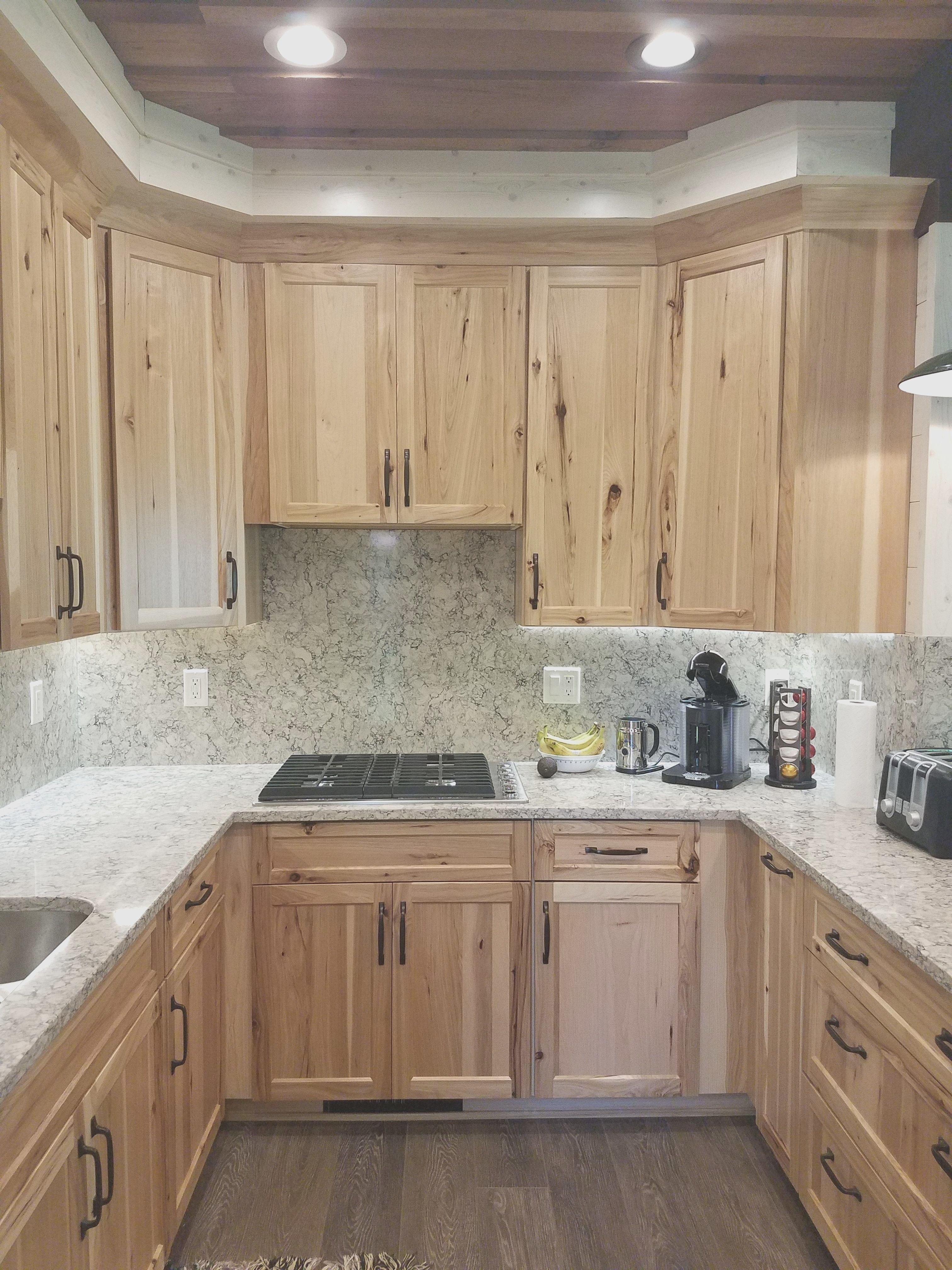 Awesome hickory cabinets with granite countertops ...